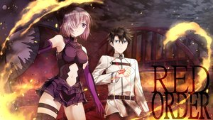 Rating: Safe Score: 21 Tags: black_hair blue_eyes bodysuit breasts fate/grand_order fate_(series) fujimaru_ritsuka_(male) jh male matthew_kyrielite navel purple_eyes purple_hair short_hair tattoo thighhighs User: RyuZU