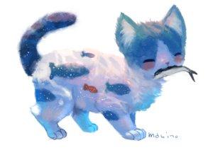 Rating: Safe Score: 59 Tags: animal cat fish manino_(mofuritaionaka) nobody original signed white User: otaku_emmy