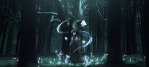 Rating: Safe Score: 66 Tags: black_hair dark fairy forest japanese_clothes long_hair magic manha_utsutsuki original tree User: BattlequeenYume