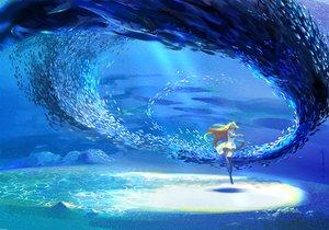 Rating: Safe Score: 53 Tags: animal barefoot blonde_hair dress fish long_hair mugon original underwater water User: FormX