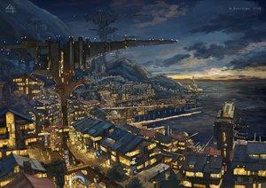 Rating: Safe Score: 57 Tags: building city clouds k_kanehira nobody original sky watermark User: RyuZU