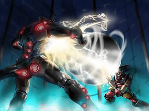 Rating: Safe Score: 31 Tags: gurren-lagann mecha tengen_toppa_gurren_lagann weapon User: SonicBlue