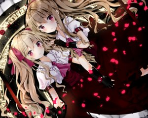 Rating: Safe Score: 65 Tags: 2girls aliasing annelie_(nanase_nao) blonde_hair blush dress gloves klarissa_(nanase_nao) long_hair magic nanase_nao original petals ponytail red_eyes ribbons twintails User: RyuZU