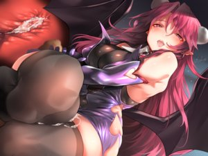 Rating: Explicit Score: 85 Tags: cum demon dress long_hair original pointed_ears red_eyes red_hair signed skintight succubus thighhighs usuki_(graygreed) wings User: BattlequeenYume