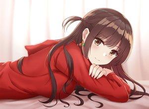 Rating: Safe Score: 102 Tags: blush braids brown_eyes brown_hair hoodie kanojo_okarishimasu long_hair mizuhara_chizuru rko_(a470350510) User: BattlequeenYume