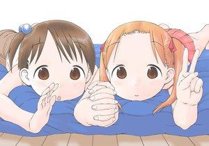 Rating: Safe Score: 33 Tags: 2girls brown_eyes brown_hair ichigo_mashimaro itou_chika loli matsuoka_miu orange_hair sezamyan short_hair twintails User: gnarf1975