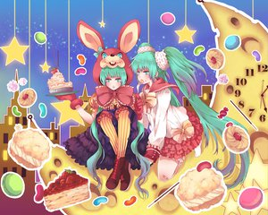Rating: Safe Score: 29 Tags: food hatsune_miku lots_of_laugh_(vocaloid) twintails vocaloid User: HawthorneKitty
