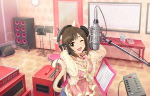 Rating: Safe Score: 50 Tags: animal_ears annin_doufu book catgirl drink headphones idolmaster idolmaster_cinderella_girls idolmaster_cinderella_girls_starlight_stage maekawa_miku microphone necklace tail wink User: luckyluna