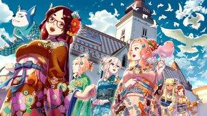 Rating: Safe Score: 33 Tags: animal bird braids clouds dog ge_xi glasses group japanese_clothes kimono long_hair original short_hair signed sky User: RyuZU