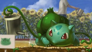 Rating: Safe Score: 28 Tags: bulbasaur close clouds flowers leaves male pokemon sky sunflower supearibu water watermark User: otaku_emmy