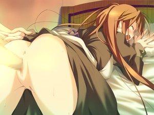 Rating: Explicit Score: 35 Tags: ass bed blush brown_hair censored favorite game_cg happy_margaret! kokonoka long_hair penis sakura_mao sex User: 秀悟