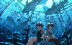Rating: Safe Score: 94 Tags: 2girls animal blue_eyes blue_hair choker dj_max dress fish lady_made_star nina_klatt scenic seha_klatt short_hair twins underwater water wristwear yuuki_tatsuya User: atlantiza