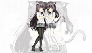 Rating: Safe Score: 144 Tags: 2girls animal_ears catgirl loli pantyhose photoshop seifuku twins yuri_shoutu zoom_layer User: gnarf1975