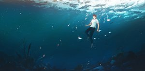 Rating: Safe Score: 36 Tags: all_male hanasei male original underwater water User: FormX