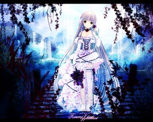 Rating: Safe Score: 12 Tags: barefoot chii chobits clamp dress flowers rose waterfall User: Oyashiro-sama