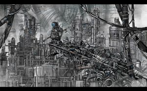 Rating: Safe Score: 24 Tags: building gray industrial original polychromatic robot scenic sonidoriy User: FormX