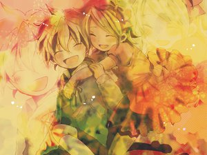 Rating: Safe Score: 26 Tags: aliasing amoko_(chokokorone) bow dress hug kagamine_len kagamine_rin loli male polychromatic vocaloid zoom_layer User: MissBMoon