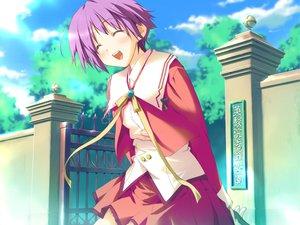 Rating: Safe Score: 3 Tags: blush favorite game_cg happy_margaret! kokonoka purple_hair school_uniform short_hair tsuwabuki_akira User: 秀悟