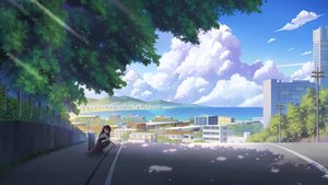 Rating: Safe Score: 55 Tags: anthropomorphism brown_hair building city clouds dress drink girls_frontline long_hair pantyhose red_eyes scenic shade sky tree wa2000_(girls_frontline) water zi_ye_(hbptcsg2) User: FormX