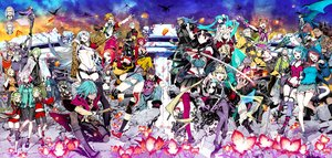 Rating: Safe Score: 89 Tags: 7th_dragon 7th_dragon_2020 group miwa_shirow pointed_ears skirt sword tagme thighhighs weapon User: FormX