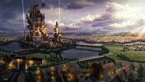 Rating: Safe Score: 86 Tags: building city clouds inika landscape original scenic signed User: FormX