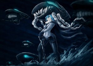 Rating: Safe Score: 79 Tags: bodysuit dark i-class_destroyer kantai_collection monochrome tentacles tie_(yutie1990) wo-class_aircraft_carrier User: Wiresetc