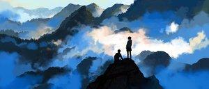 Rating: Safe Score: 53 Tags: clouds hoodie kitsune_(kazenouta) landscape original scenic short_hair User: FormX