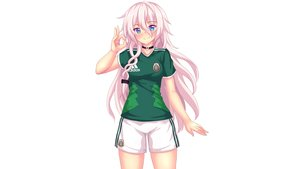 Rating: Safe Score: 27 Tags: aqua_eyes choker fast-runner-2024 ia pink_hair shorts soccer sport uniform vocaloid white User: gnarf1975