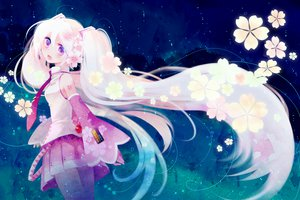 Rating: Safe Score: 87 Tags: flowers hatsune_miku long_hair miyu_(matsunohara) purple_eyes sakura_miku twintails vocaloid User: opai