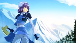 Rating: Safe Score: 42 Tags: advent_cirno letty_whiterock shiba_itsuki sky sword touhou weapon winter User: korokun