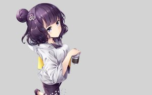 Rating: Safe Score: 66 Tags: drink fate/grand_order fate_(series) gray hane_yuki hoodie katsushika_hokusai purple_eyes purple_hair short_hair third-party_edit User: RyuZU