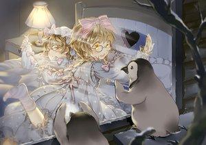 Rating: Safe Score: 23 Tags: animal bed glasses loli lolita_fashion original penguin ribbons snow starpri twins User: Flandre93
