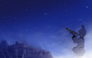 Rating: Safe Score: 22 Tags: animal bird instrument night sky sora_no_woto sorami_kanata tagme User: FoliFF