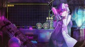 Rating: Safe Score: 64 Tags: animal bandage bondage chain dark dress enka_(aknne) industrial long_hair mouse pink_eyes purple_hair thighhighs voiceroid yuzuki_yukari zettai_ryouiki User: luckyluna