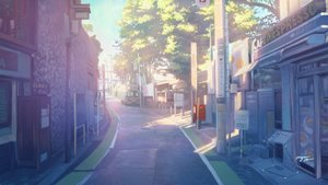 Rating: Safe Score: 46 Tags: building car city original scenic shade signed tree wayne_chan User: mattiasc02