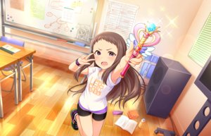 Rating: Safe Score: 26 Tags: annin_doufu bike_shorts blush book brown_hair drink fang idolmaster idolmaster_cinderella_girls idolmaster_cinderella_girls_starlight_stage long_hair purple_eyes shorts tagme_(character) wand wristwear User: luckyluna