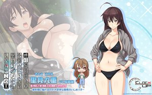 Rating: Questionable Score: 154 Tags: ane_ni_kono_natsu bikini black_hair brown_eyes chibi cleavage clockup erect_nipples long_hair navel satomi_konoe swimsuit watermark zoom_layer User: Wiresetc