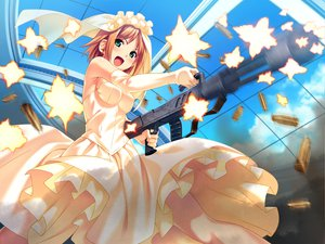 Rating: Safe Score: 147 Tags: dress game_cg green_eyes gun koutaro minazuki_izumi orange_hair short_hair tropical_kiss twinkle weapon User: Wiresetc