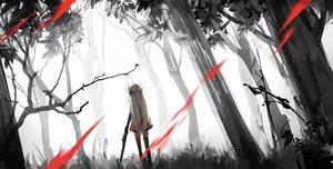 Rating: Safe Score: 230 Tags: forest hiko_(hikosama) long_hair original pixiv_fantasia polychromatic thighhighs tree weapon User: Flandre93