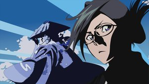 Rating: Safe Score: 29 Tags: bleach blue ise_nanao kyoraku_shunsui vector User: atlantiza