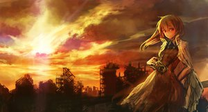 Rating: Safe Score: 114 Tags: camera clouds dress lm7_(op-center) sky sunset tagme User: opai
