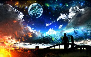 Rating: Safe Score: 94 Tags: 3d clouds original planet scenic sky stars y-k User: STORM
