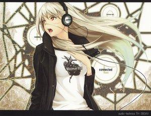 Rating: Safe Score: 100 Tags: blush eureka headphones long_hair music tenka_sanbun white_hair User: Tensa