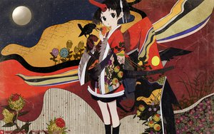Rating: Safe Score: 26 Tags: black_eyes black_hair japanese_clothes moon okama User: Oyashiro-sama