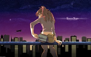 Rating: Safe Score: 41 Tags: aircraft blue_eyes building city clouds long_hair neon_genesis_evangelion sky soryu_asuka_langley vector watermark User: RyuZU