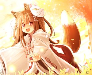 Rating: Safe Score: 27 Tags: brown_hair fang foxgirl fujisaki_yuu japanese_clothes loli long_hair mask miko original polychromatic red_eyes tail User: RyuZU
