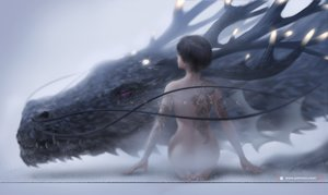 Rating: Questionable Score: 81 Tags: black_hair dragon ghostblade nude short_hair tagme_(character) tattoo watermark wlop User: RyuZU