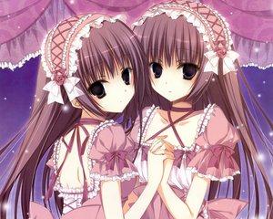 Rating: Safe Score: 127 Tags: 2girls dengeki_moeoh inugami_kira lolita_fashion long_hair original twins User: Wiresetc