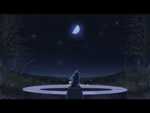 Rating: Safe Score: 35 Tags: akiba_rika ezaki_yuuichi hanbun_no_tsuki_ga_noboru_sora long_hair moon night stars tree yuki.n User: Tensa