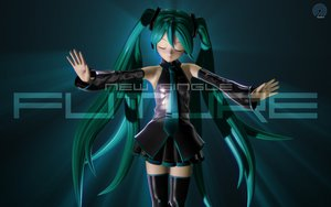 Rating: Safe Score: 65 Tags: 3d green_hair hatsune_miku headphones long_hair skirt thighhighs tie tripshots twintails vocaloid User: kn8485909